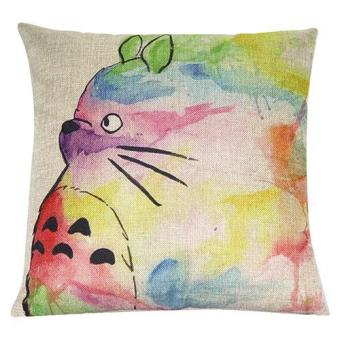 Sanwood Lovely Printed Linen Cartoon Pillow Case Square Cushion Cover Home Sofa Decor - intl