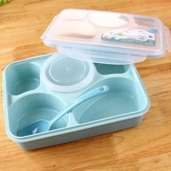 Harga Lunch Box / Kotak Makan / Lunch Box Yooyee Plus Tempat Sup 5 Sekat Bento