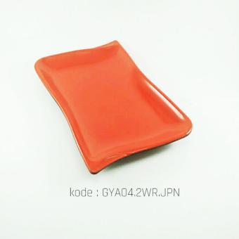 PiringCeper Panjang Oriental 8.5 Inch Merah Hitam (isi 2pcs)– Melamine GloriGYA04.2WR.JPN