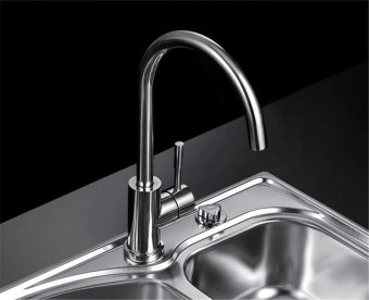 high qualityFashion drawing will never rust, hot and cold single-hole rotating, sink tap - intl