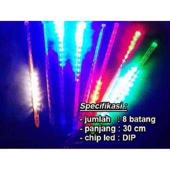 LED Meteor RGB/Red-Green-Blue LED DIP (8 Batang) Panjang 30 cm