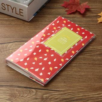 84 kasus penyimpanan Album yang indah untuk saku Polaroid Mini Film Instax Fuji foto merah daun - Internasional