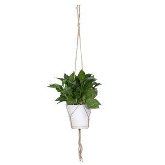 Macrame tanaman gantungan pot bunga dudukan Gardenpot angkat tali (ms01) - International