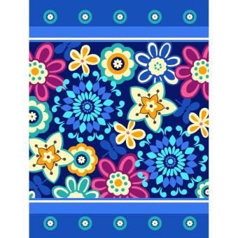 Harga Vito - Selimut Vito Sutra Panel Blue Flower (150*200)