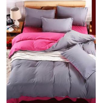 Alona Ellenov Jepang Pink Grey Bed Cover Set Katun Jepang Super 100 x 200