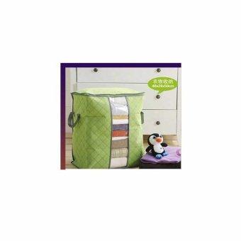 Universal Storage Bag / Box Tidur Selimut Organizer (Model TINGGI) Hijau