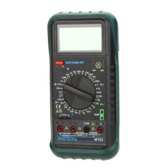 MASTECH MY62 Handheld Digital Multimeter DMM w/TemperatureCapacitance & hFE Test - intl