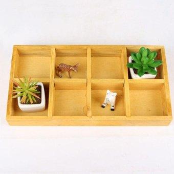 Cestlafit Rectangle Wooden Garden Box Trough Pot Flower Bed - intl
