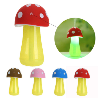 Harga USB Mushroom Shape LED Light Humidifier Nebulizer Air Diffuser Aroma Mist Maker Blue