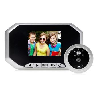 2.0MP 3.0 inch Color Screen No Disturb Peephole Viewer Security Camera(Silver) - intl