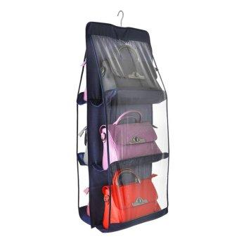 Transparent Package Admission Hanging Bag Wardrobe Suspension Type Storage Bag Multi Closet Fabric Art Dustproof Wall Hanging Storage Rack - intl
