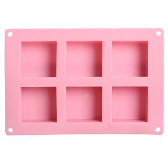 HL Diy 6 Rectangle Soap Ice Mold Homemade Craft - intl