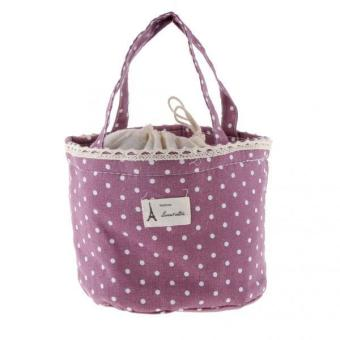 BolehDeals Thermal Insulated Lunch Box Tote Cooler Bag Bento Pouch Container Purple - intl