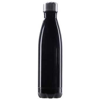 500 ml ganda dinding botol air stainless steel vakum Piala Hitam