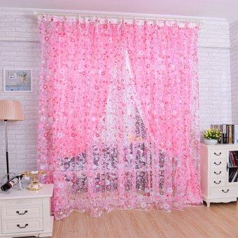 100 cm X 200 cm cetak motif bunga kain pual pintu jendela tirai kamar pembagi syal