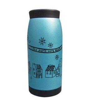 Stainless Steel Vacuum Insulated Thermos Water Cup Bottle Travel 350ml Blue