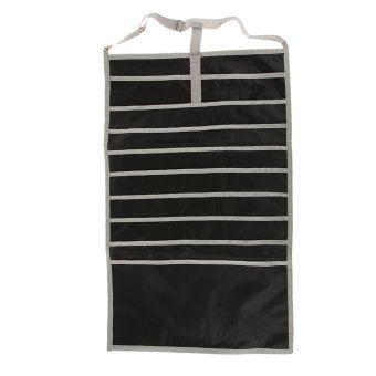 BolehDeals BolehDeals Desk Pocket Organizer Hanging Holder Students Table Book Storage Bag - Black