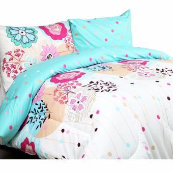 Alona Ellenov Katun Blossom Bed Cover Set Katun – Putih