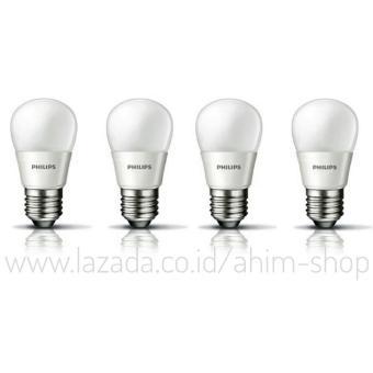 Harga Philips LED Bulb 4W E27 - Cool Daylight (Putih) - 4 pcs