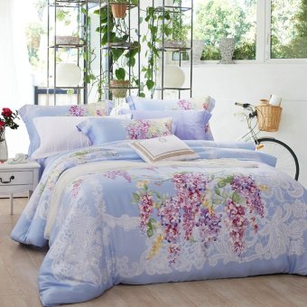 4pcs Luxury King/Queen Size Bedding Sets Duvet Cover Bed Sheet /Pillowcases - intl