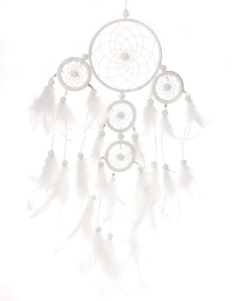 Fashion originality big Hot white Dreamcatcher Wind Chimes Indian Style pearl Feather Pendant Dream Catcher Gift