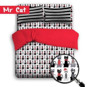 theora sprei bahan katun motif MR.CAT