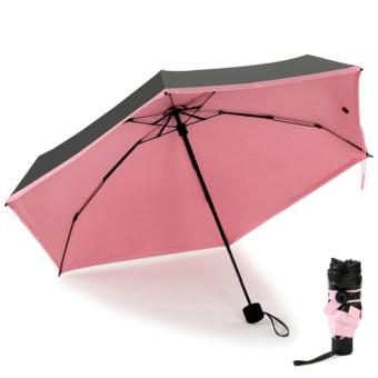 Anti-UV Sun Protection Flower Parasols 3 Folding Umbrella color:Pink - intl