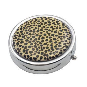 BolehDeals Spots Print Pill Case Box Storage Organizer Container with Internal Mirror - intl