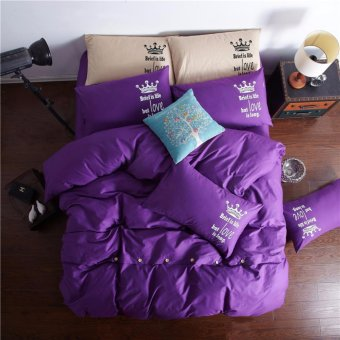 Fashionable 2 sizes modern bedding sheet 4pcs cotton Queen king size comfortable beding sets - intl