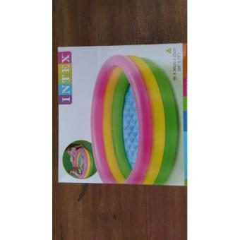 Kolam Bola Karet Medium/Kolam Renang Portable/ Intex Original Pelangi