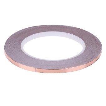 30 Meters Single Side Adhesive EMI Shielding Heat Resist Copper Foil Tape(Gold)-6mm - intl