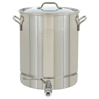 GPL/ Bayou Classic 1064 Stainless 16-Gallon Stockpot with Spigot and Vented Lid/ship from USA - intl