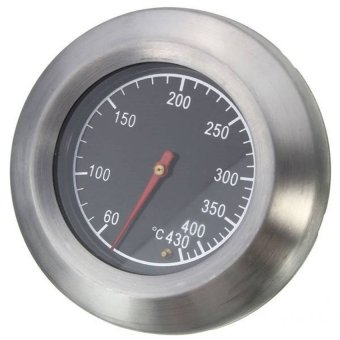 Stainless Steel Thermometer Barbecue BBQ Smoker Grill TemperatureGauge 60-430�x83 - intl