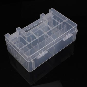 Translucent Hard Plastic Case Holder Storage Box for AA AAA C battery - Intl