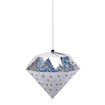 Christmas Tree Xmas Hollow Laser Diamond Ball Decorations Baubles Party Ornament Silver 45cm - intl