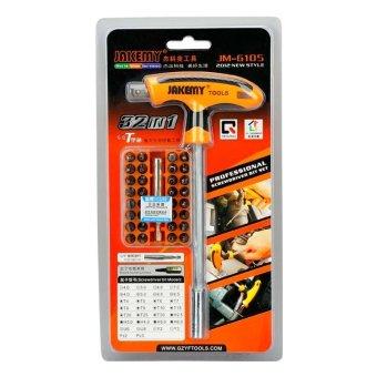 Jakemy 32 in 1 T-Handle Screwdriver Set -alat reparasi- JM-6105