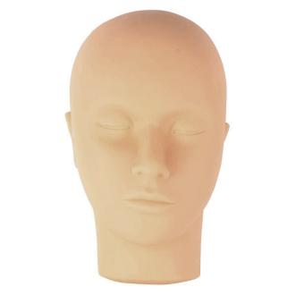 Manekin kepala datar yang lembut tanpa rias rambut untuk pelatihan Idep ekstensi membuat lukisan praktek Pijat