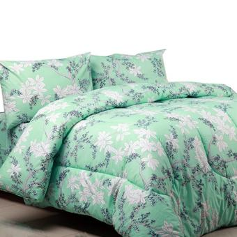 theora sprei bahan katun motif angela green