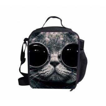 BolehDeals Portable Cat Thermal Cooler Insulated Tote lunch Box Picnic Bag Travel #4 - intl
