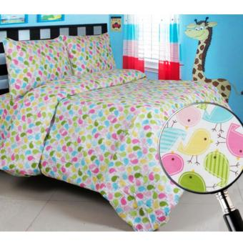 Alona Ellenov Little Tweet Sprei Katun Single 120 x 200 x 20cm – Multicolour