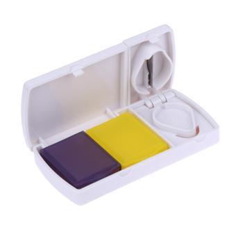 Harga Pill Splitter Cutter Tool Medicine Storage Compartment Box Case Holder - intl