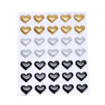 Resin Sticker Dot Scrapbooking/ DIY Crafts Making Decoration(Gold) - intl