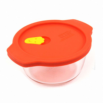 Lock & Lock Oven Egg Glass Steamer 460Ml Cap Red