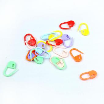 xfsmy Knitting Crochet Locking Plastic Markers Nappy Pin (Set of 20 Pcs, Random Color)