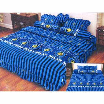 Alona Ellenov Katun New Inter Milan Bed Cover Set Katun – Biru