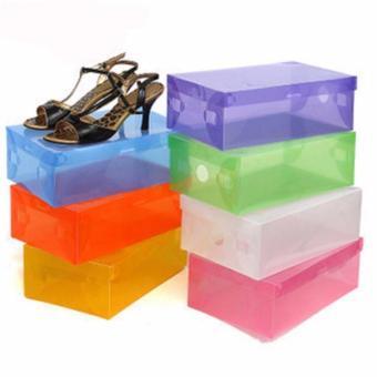 Harga 6 Pcs Kotak Sepatu Transparant Shoes Box - Random Color