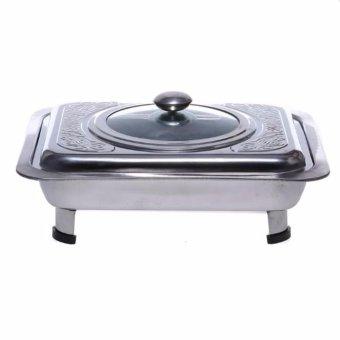 555 SA Tempat makan prasmanan motif - stainless steel