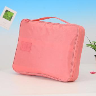 Korean Version Of The Multi-function Waterproof Travel Clothing Organize Admission Packets Shirt And Tie - Pink