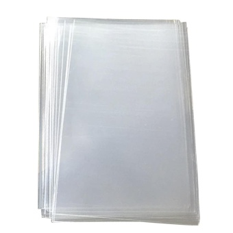 500Pcs 5 x 3inches Rectangular Transparent Resealable OPP Clear Cellophane Treat Bags for Candies Dessert Bread Cookies Snacks - intl
