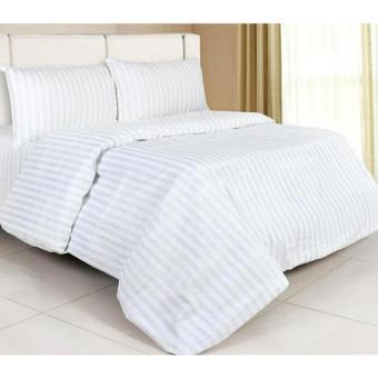 Alona Ellenov White Line Bed Cover Set – White